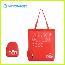 Custom Logo Printed Nylon Shopper Handbag with Folding Pouch