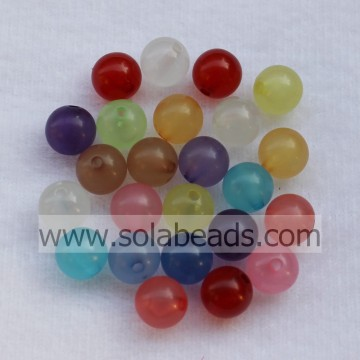 Cool 8mm Crystal Plastic bal glad kleine kralen