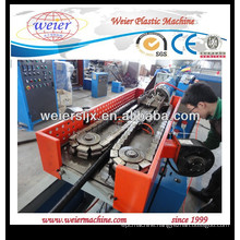 Plastic single wall corrugated pipe line