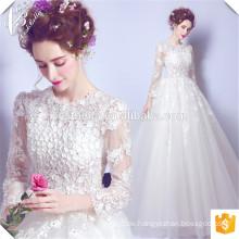 China Suzhou Vestido de Casamento Brautkleid 2016 lange Ärmel Braut Hochzeit Muster Ballkleid Brautkleider