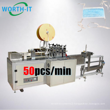 Disposable 3ply Mask Ear Rope Tie On Welding Machine Fully Auto Face Mask Earloop Tie On Machine