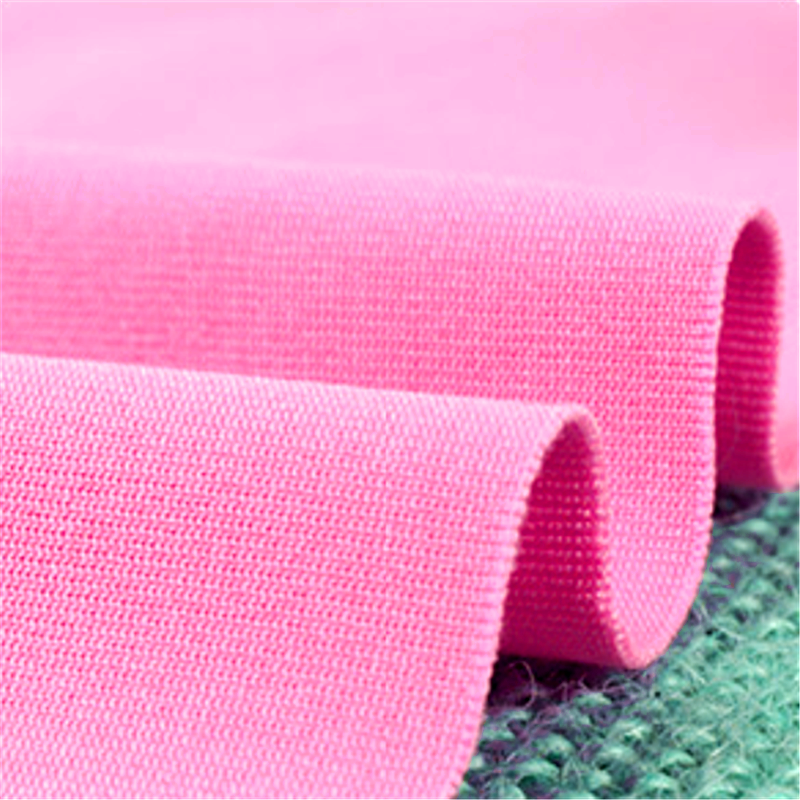 Light Pink Four Side Stretch Knitted Polyester Girls Fabric 4