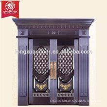Gewerbe- oder Wohnhaus Bronze Tür, zweiflügelige Kupferverkleidung Tür