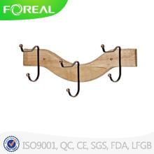 Деревянные 3 крючка для полотенец одежда висит настенные навесные застежка