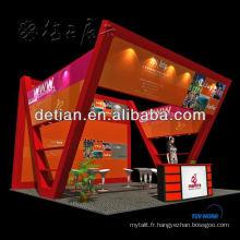 20x20 île exposition stand conception et construction