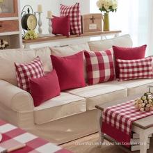 Cojines cómodos con tinte de hilo textil para el hogar