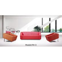 Sofá moderno de cuero de oficina de oficina (FH-3)