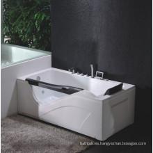 Bañera de masaje de esquina con vidrio templado