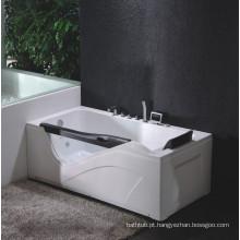 Banheira de massagem em canto com vidro temperado