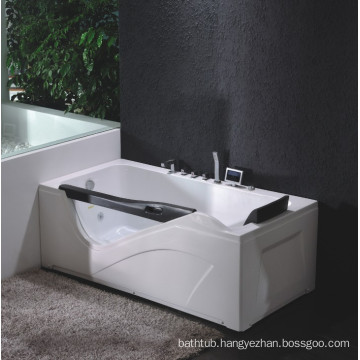 Corner Whirlpool Bath Tub with Everclean and Hydro Massage System