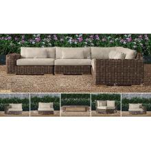 BORA BORA - Tout résistant aux intempéries Ensembles de canapés en terre cuite en mousse en bambou pour mobilier de jardin