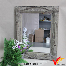 Shabby Chic Carving Wooden Rustic Wall Mirror