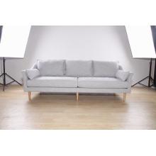 Sofá moderno de 3 lugares em tecido