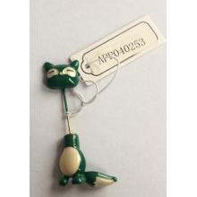 Gato pequeno verde lindo broche com Metal