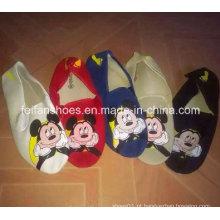 Estoque de calçados de lona de esportes de injeção mickey barato mais recente impressão (ff329-7)