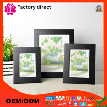 Malden Linear Wood Matted 4X6 Collage Black Picture Frame