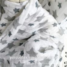 Tecido de musselina 100% algodão