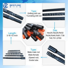 Top Quality Steel R32/T38/T45/T51 Drill Tube From Bestlink