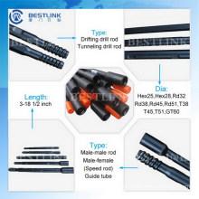 Tubo de aço da qualidade superior R32 / T38 / T45 / T51 de Bestlink
