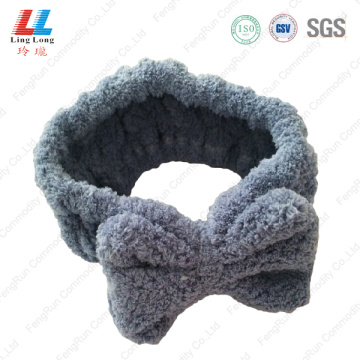 Deep blue style headband helpful face washing