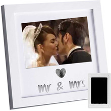 High quality custom wholesale 6*8 Real Solid Wood Shadow Box Boyfriend Girlfriend Couples I Love You  Picture Frames Photo