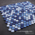 Blue Mix Textured Glass Mosaic Art