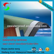 Material para techos TPO membrana impermeable