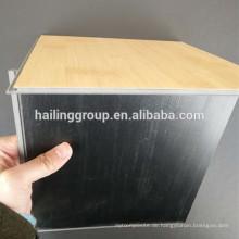 Anti-Rutsch-Unterstützung Glueless Stein Luxus Vinyl lose legen PVC Bodenfliese
