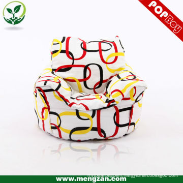 beanbag with armrest for kids/lovely cotton beanbag chair for children