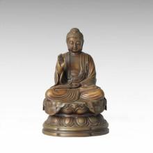 Estatua de Buda Tathagata Escultura de Bronce Tpfx-B135