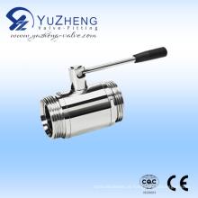 Válvula de esfera polida de aço inoxidável Fabricante