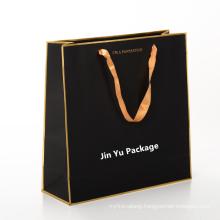 Black Matt Excellent Delicate Gift Cardboard Paper Shopping Bag