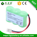 Paquete de batería recargable de 3.6V 800mAh Ni-MH 2 / 3AA para teléfono inalámbrico