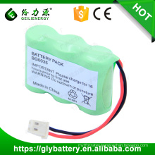 3.6V 800mAh Ni-MH 2/3AA Rechageable Battery Pack For Cordless Phone