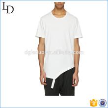 Distressing across white white camiseta diseño de cuello redondo para hombres