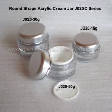 15 мл 30 мл 50 мл серебряной круглой формы Акриловые Косметические Jar
