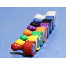 Etiqueta engomada magnética del Pin de la pizarra colorida al por mayor