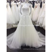 Lace Brautkleider Vestidos De Noiva Sweetheart Appliques Acture Image Arabische Brautkleider mit Feder Dekoration A026