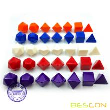 Bescon Blank Polyhedral RPG Dice 35pcs Assorted Colors Set, Solid Colors in Complete Set of 7, One Set for Each Color, DIY Dice