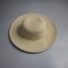 Ala ancha sombrero de paja en blanco por mayor