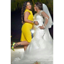 Real Made Lace Marmaid Plus Size Wedding Dress