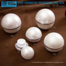 Serie de YJ-O 5g 15g 30g 50g 70g clásico bola en forma de tarros poner crema de acrílico