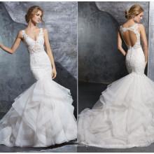 Fashion Sexy Mermaid Ballgown Bridal Gown Prom Evening Wedding Dress