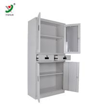 Móveis baratos KD usado armários de armazenamento de metal armário de arquivo de gabinete de aço inoxidável venda