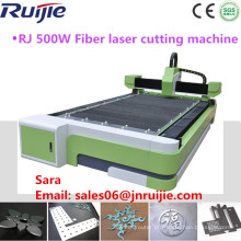 China Jinan Fabricante 500W Máquina de corte a laser de fibra