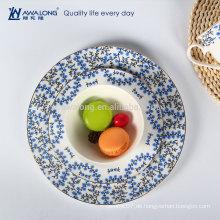 Ländliche Design Blumen Malerei Keramik Fine Bone China Platten und Gerichte Geschirr Set