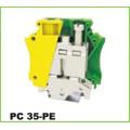 Tornillo de tierra Montaje en carril DIN Conector eléctrico