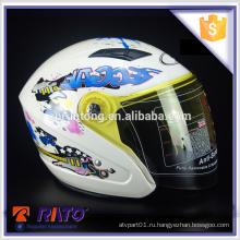 2016 привлекательный дизайн ABS белый мотоцикл full-face шлем