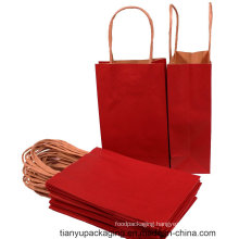 Red Color Custom Made Paper Bag with Twisted Handle