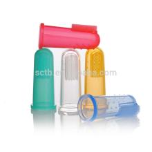 nylon brush abrasive baby finger toothbrush